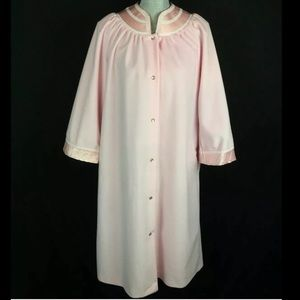 Vintage 60s 70s House Dress Robe Pearl Snaps